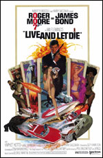 James Bond Live and Let Die Poster