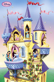 Disney Princess Towers Poster