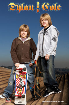 Dylan and Cole Skateboard Poster