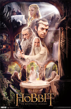 The Hobbit Rivendell Poster