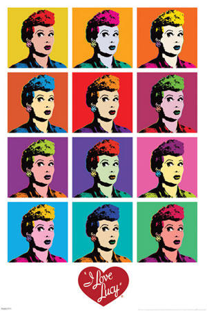 I Love Lucy Pop Art Poster