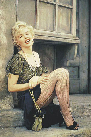 Marilyn-Monroe-Fishnet-Stockings-Poster