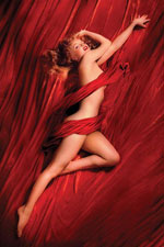 Marilyn Monroe Red Poster