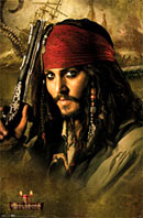 Pirates of the Caribbean Johnny Depp poster