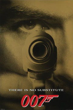 James Bond There is No Substitute Poster