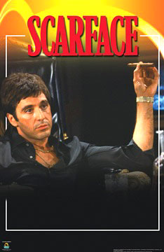 Scarface Armchair Poster