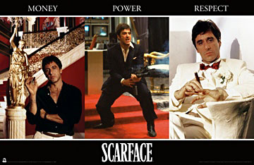 Scarface Money Power Respect Poster