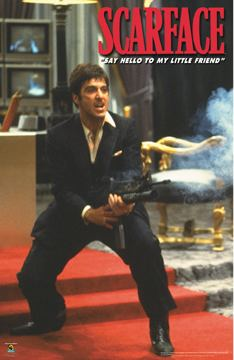 Scarface Machine Gun Poster