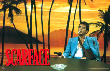 Scarface Pistol Poster