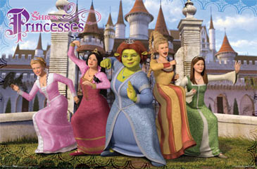 Shrek 3 Princesses Poster