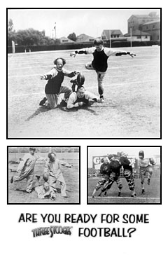 Three Stooges Football Poster