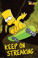 Bart Simpson Keep on Streaking Poster