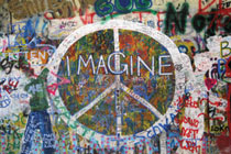 John Lennon Beatles Imagine Peace Wall Poster