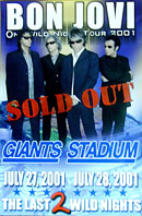 Bon Jovi Giants Stadium Poster