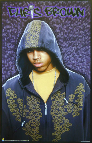 Chris Brown Hoodie Poster