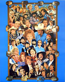 Country Music Superstars Poster