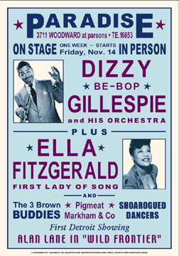 Dizzy and Ella 1947 Concert Poster