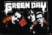 Green Day Brick Wall Poster