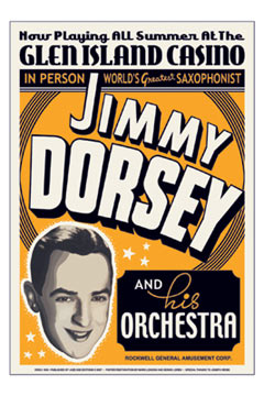 Jimmy Dorsey Concert Poster 1936