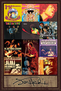 Jimi Hendrix Album Covers Poster
