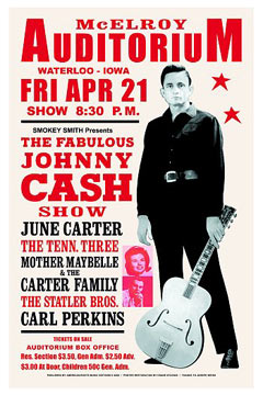 Johnny Cash concert poster 1967