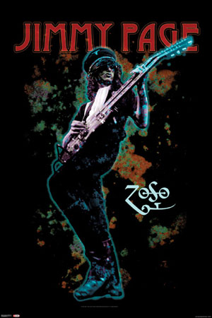 Jimmy Page Trippy Stormtrooper Poster