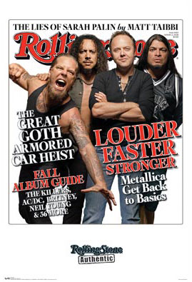 Metallica Rolling Stone Poster