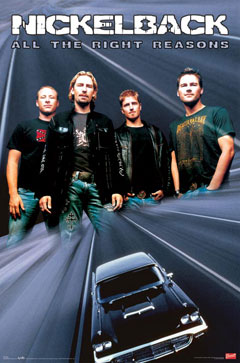 Nickelback All the Right Reasons Poster
