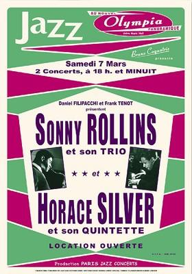 Sonny-Rollins-and-Horace-Silver-Repro-Concert-Poster