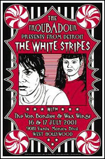 White Stripes Pittsburgh 2002 Concert Poster