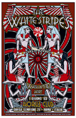 White Stripes Horus Club Rome 2003 Concert Poster