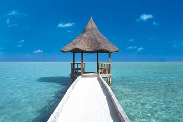 Maldives Beach Hut Poster