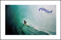 Pipeline Mark Johnson Surfing Poster