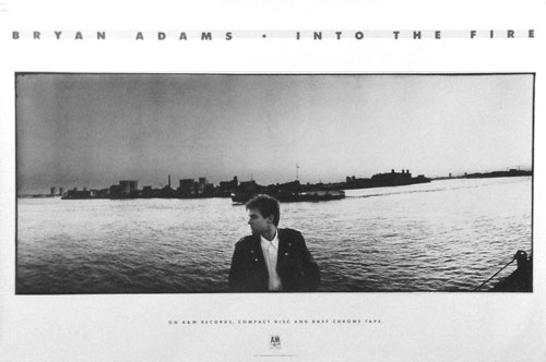 Bryan Adams Into The Fire 1987 Poster