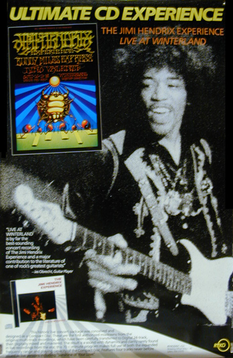 Jimi Hendrix Experience Live at Winterland Poster