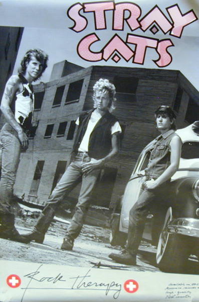 Stray Cats Rock Therapy Poster 1989