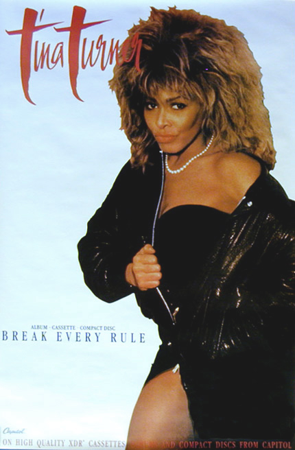 Tina Turner Break Every Rule Poster