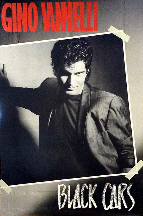 Gino Vannelli Black Cars 1985 Poster