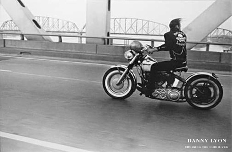 Danny Lyon Crossing the Ohio Motorcycle Poster
