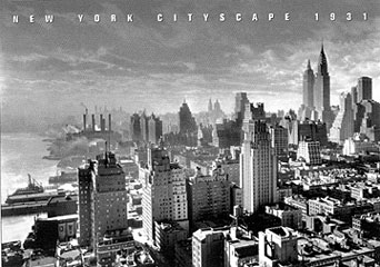 New York Cityscape 1931 Poster