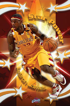 Lebron James Star Power Poster