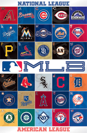 MLB Logos I Live For This Poster