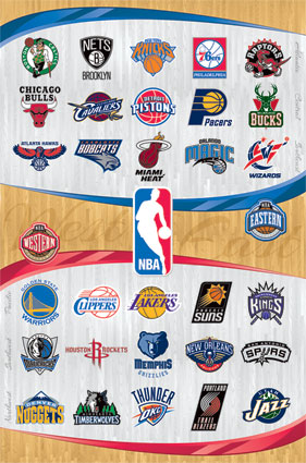 NBA Team Logos Click Add to Cart to Order