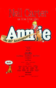 Annie Broadway Window Card
